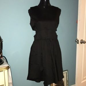 French Connection black cut out sides dress